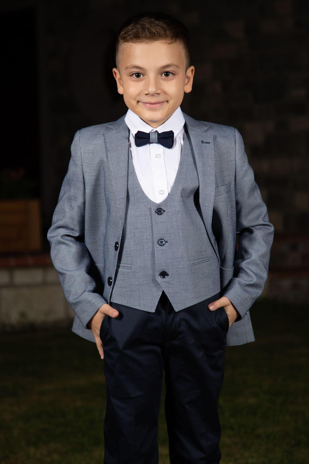 Score Model, Bag Cib, Mono Yaxası, Tam Dəsti Boy Kostyum 159 Tünd Mavi