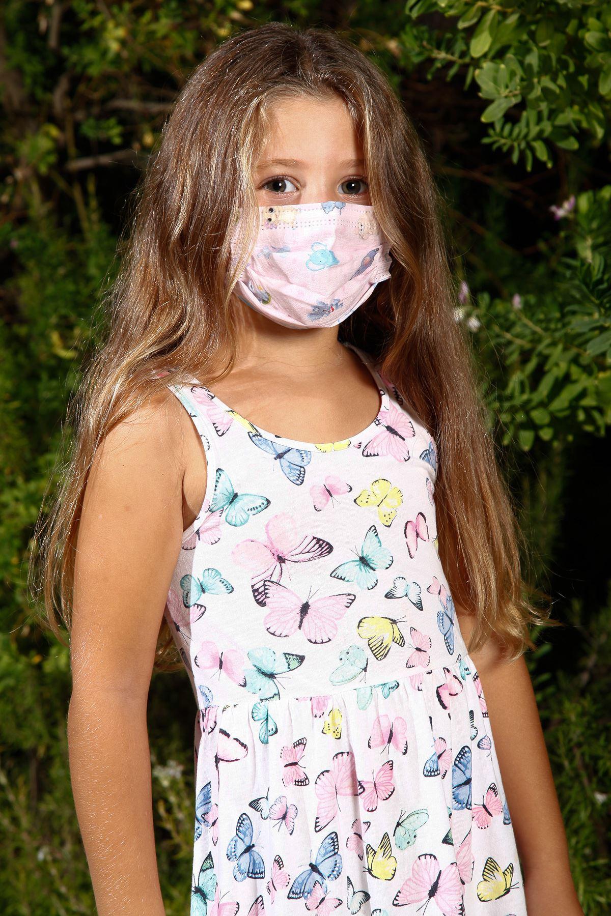 Μίας χρήσης σύρμα ελαστική ιατρική μάσκα προσώπου για παιδιά ελέφαντα μοτίβο 10 συσκευασία