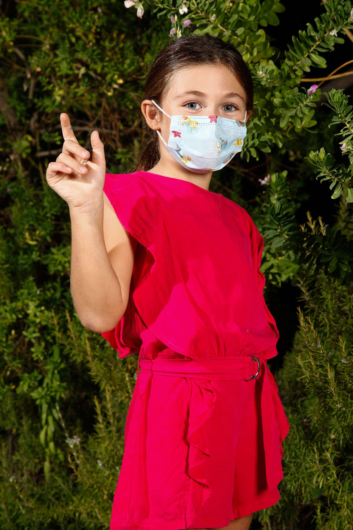 Disposable Wire Rubber Medical Child Face Mask Car Pattern 10 Pack